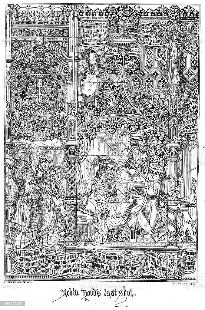 Robin Hood's Last Shot vector art illustration