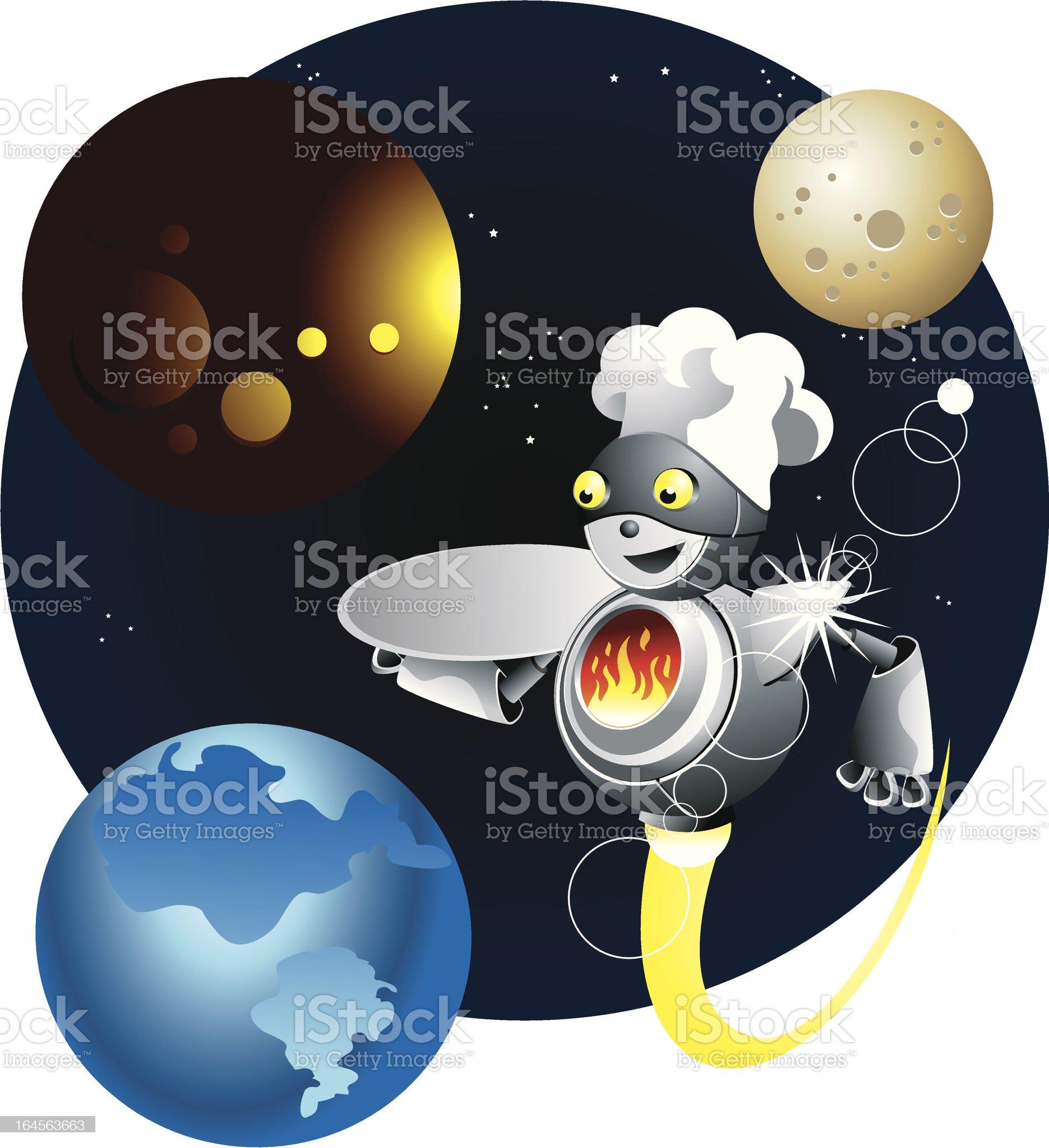 Robo-chef royalty-free stock vector art