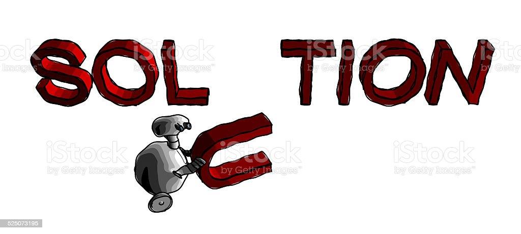 robomas en lineas vector art illustration