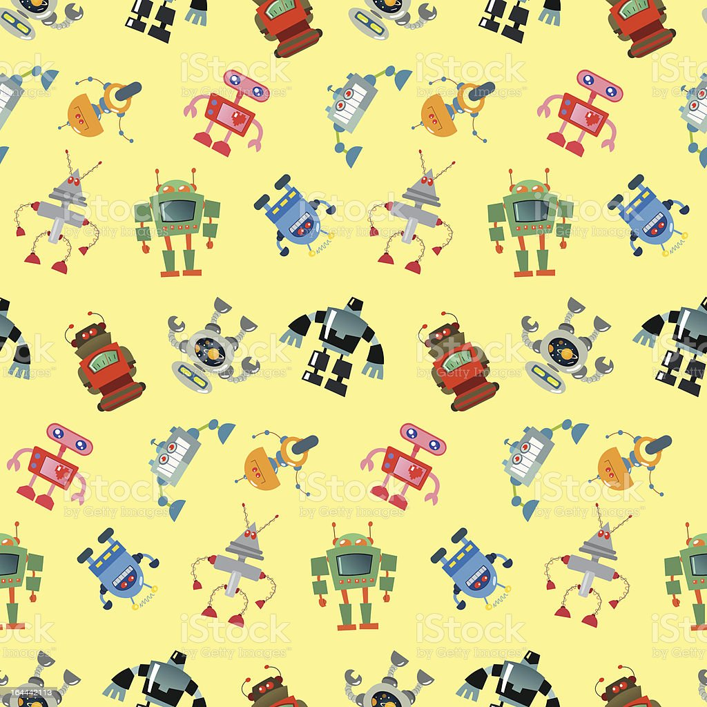 Robot pattern royalty-free stock vector art