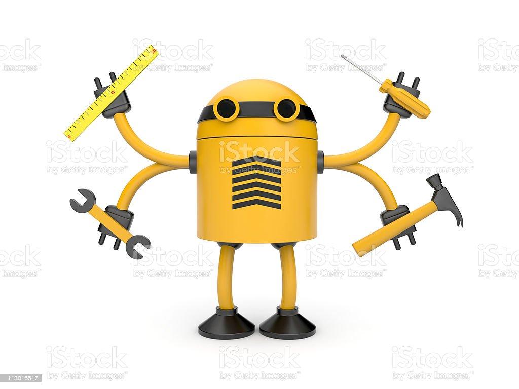 Robot worker royalty-free stock vector art