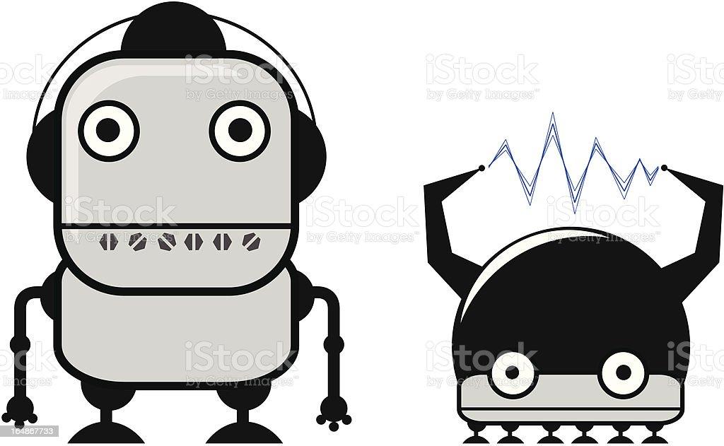 robots royalty-free stock vector art