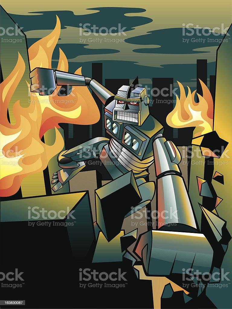 Robotwars royalty-free stock vector art