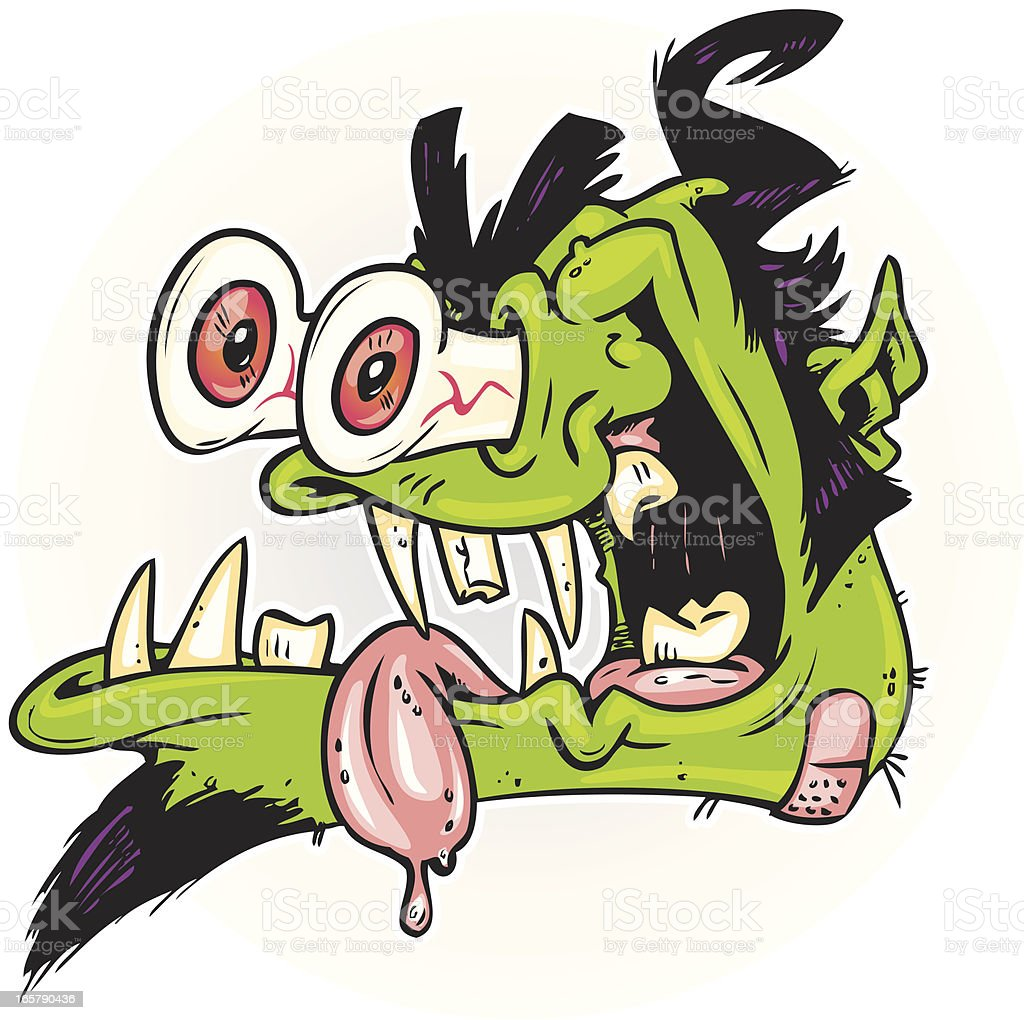 rockabilly monster vector art illustration