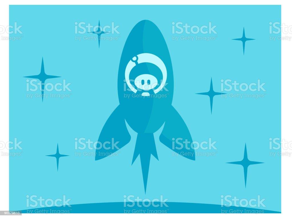 Rocket Boy royalty-free stock vector art