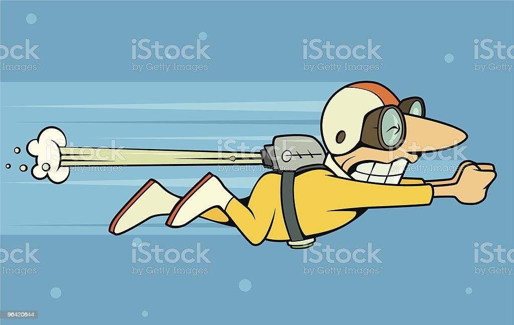 Rocket Man vector art illustration