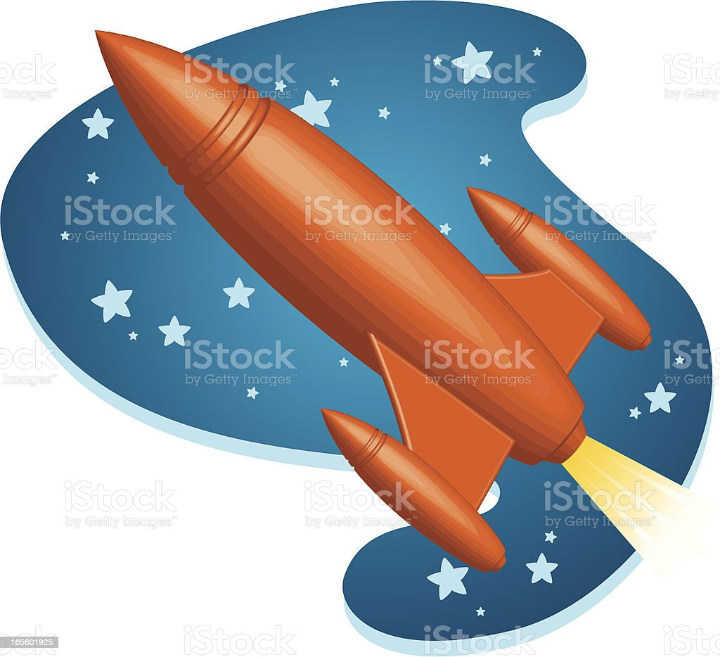rocket ship royalty-free stock vector art