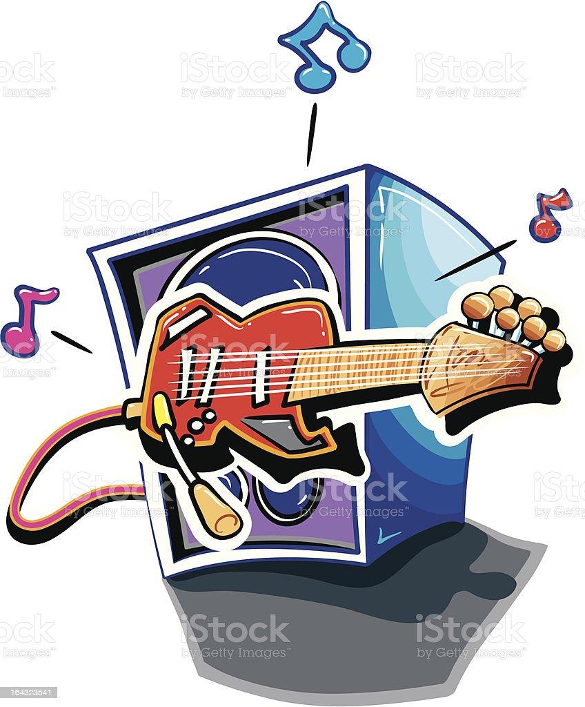 ROCK-n-ROLL GUITAR vector art illustration