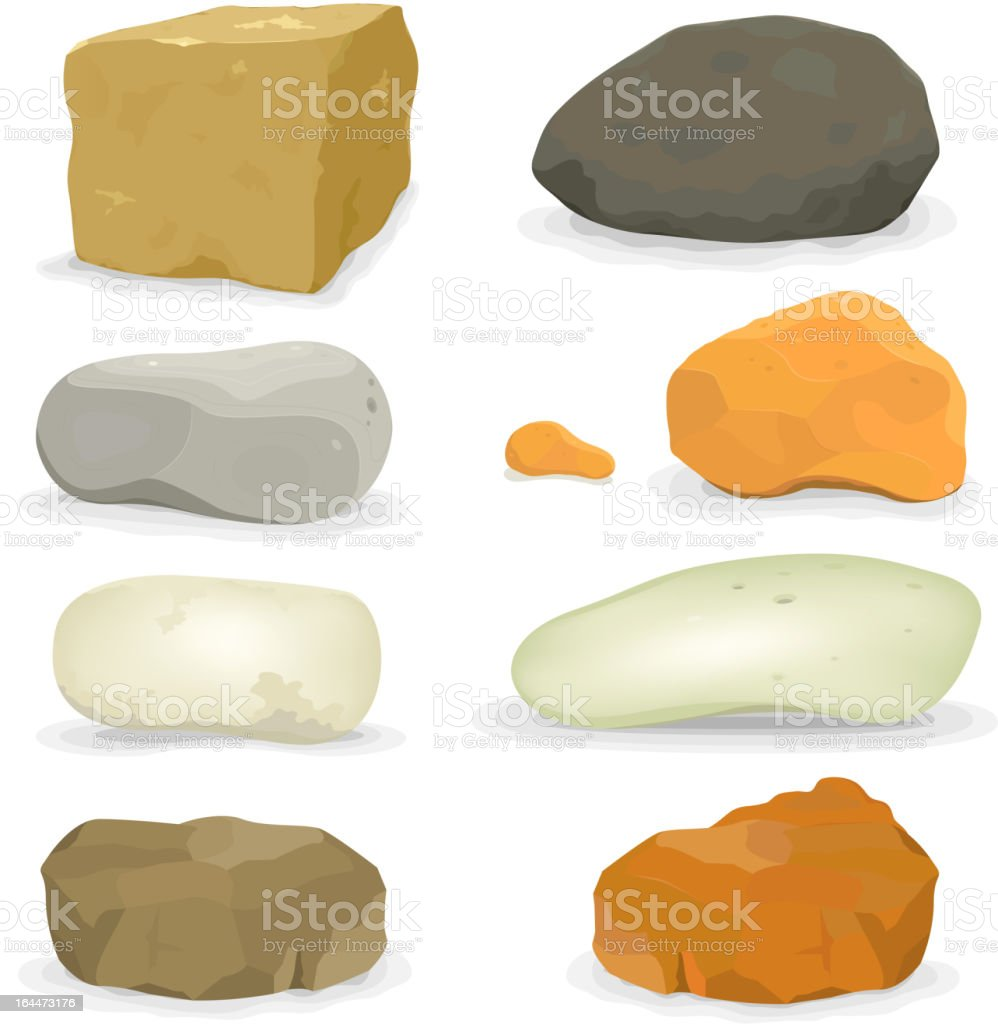 Rocks And Stones Set royalty-free stock vector art