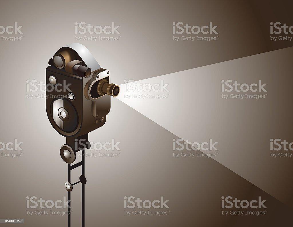 Roll the movie vector art illustration