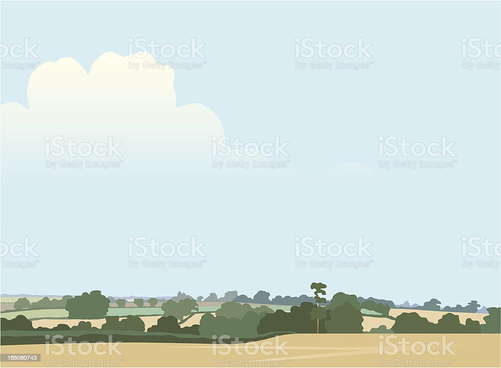 Rolling landscape royalty-free stock vector art
