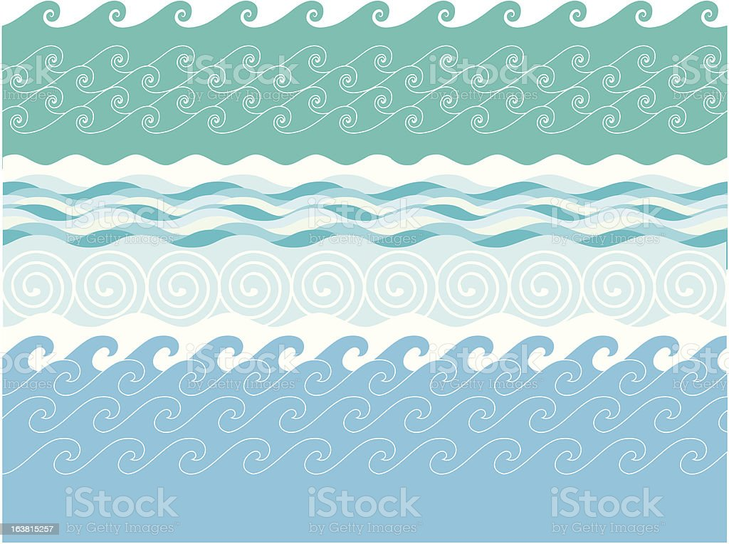 Rolling Waves 1 royalty-free stock vector art