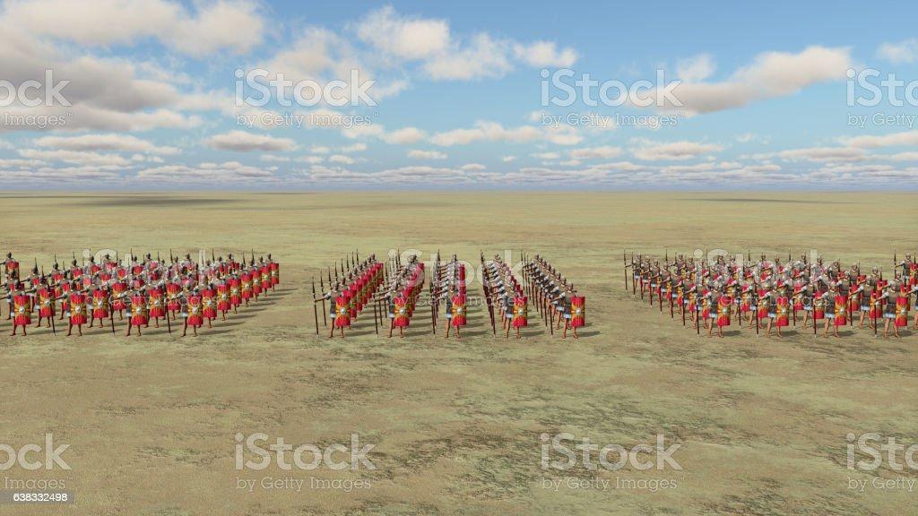 Roman army vector art illustration