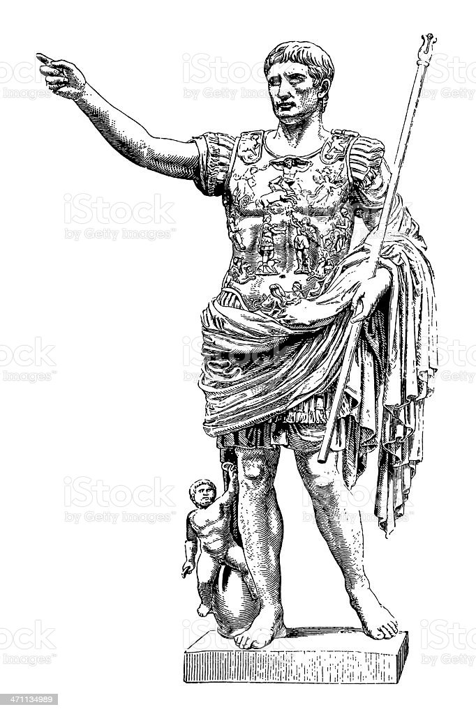 Roman Emperor vector art illustration