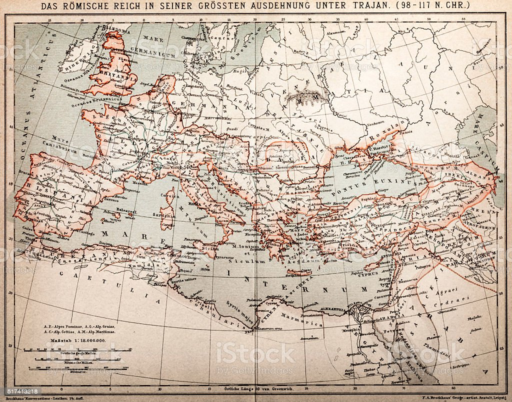 Roman Empire Under Trajan Stock Vector Art IStock - Map of rome under trajan