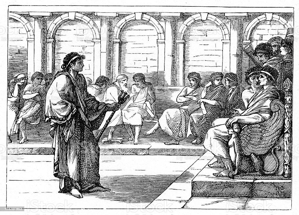 Roman Forum vector art illustration