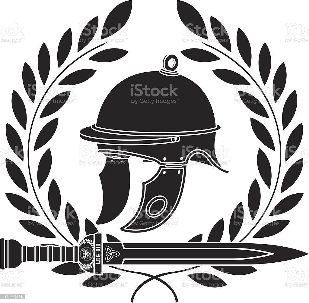 roman helmet royalty-free stock vector art