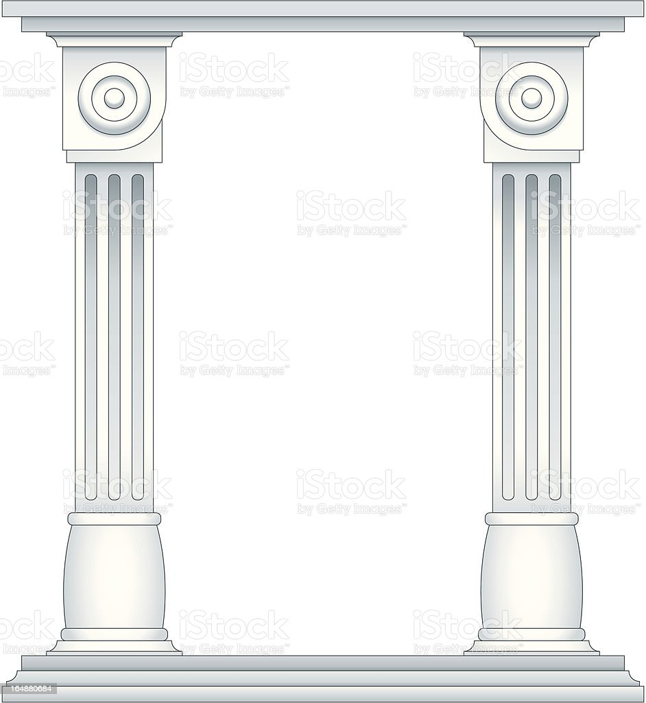 Roman Style Columns royalty-free stock vector art