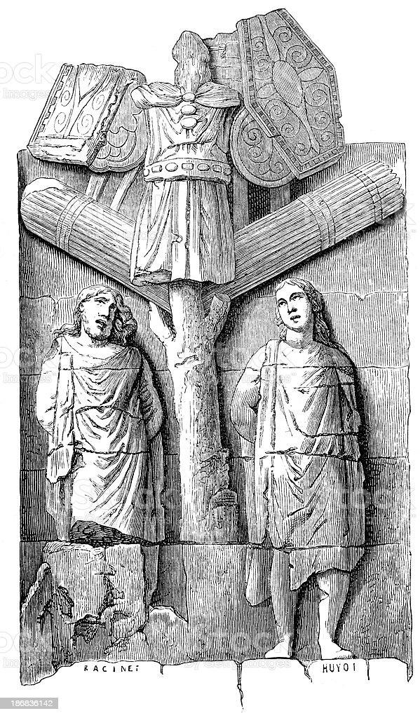Roman War Trophies royalty-free stock vector art