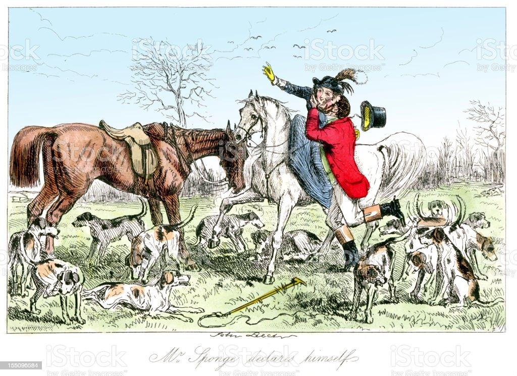 Romance on the Hunt royalty-free stock vector art
