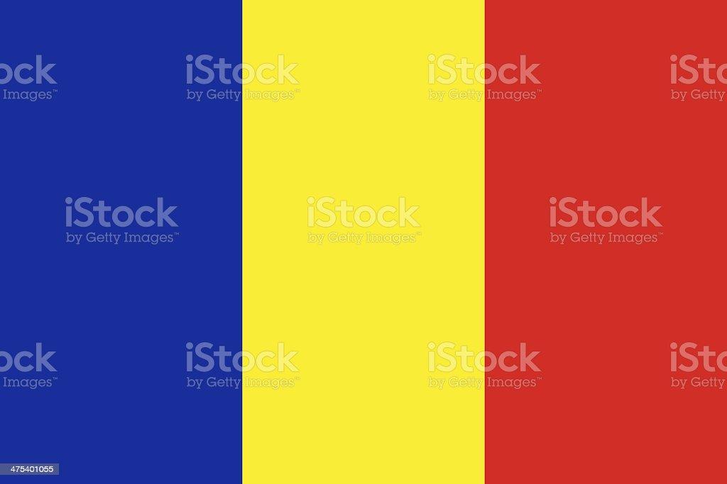 Romania Flag vector art illustration