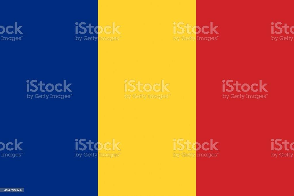 Romania flag illustration of european country vector art illustration
