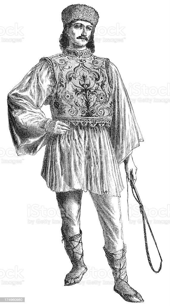 Romanian man royalty-free stock vector art