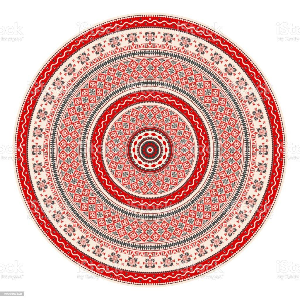 Romanian round element vector art illustration