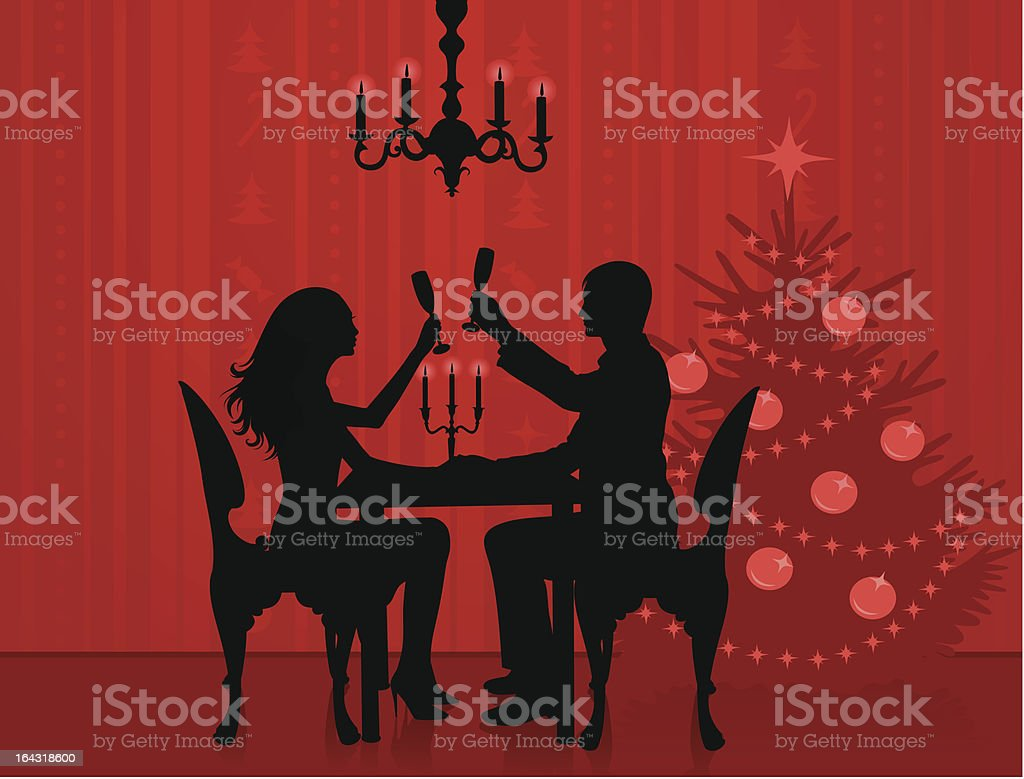 Romantic evening. royalty-free stock vector art