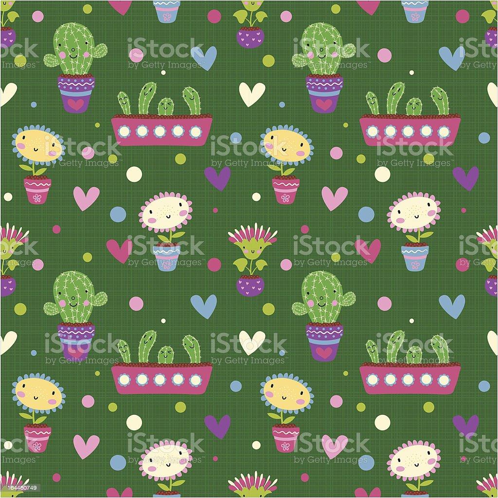 Romantic seamless pattern royalty-free stock vector art