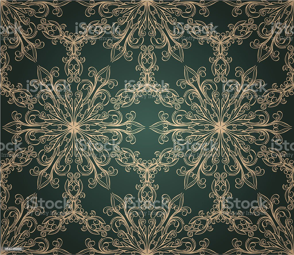 Romantic seamless wallpaper royalty-free stock vector art