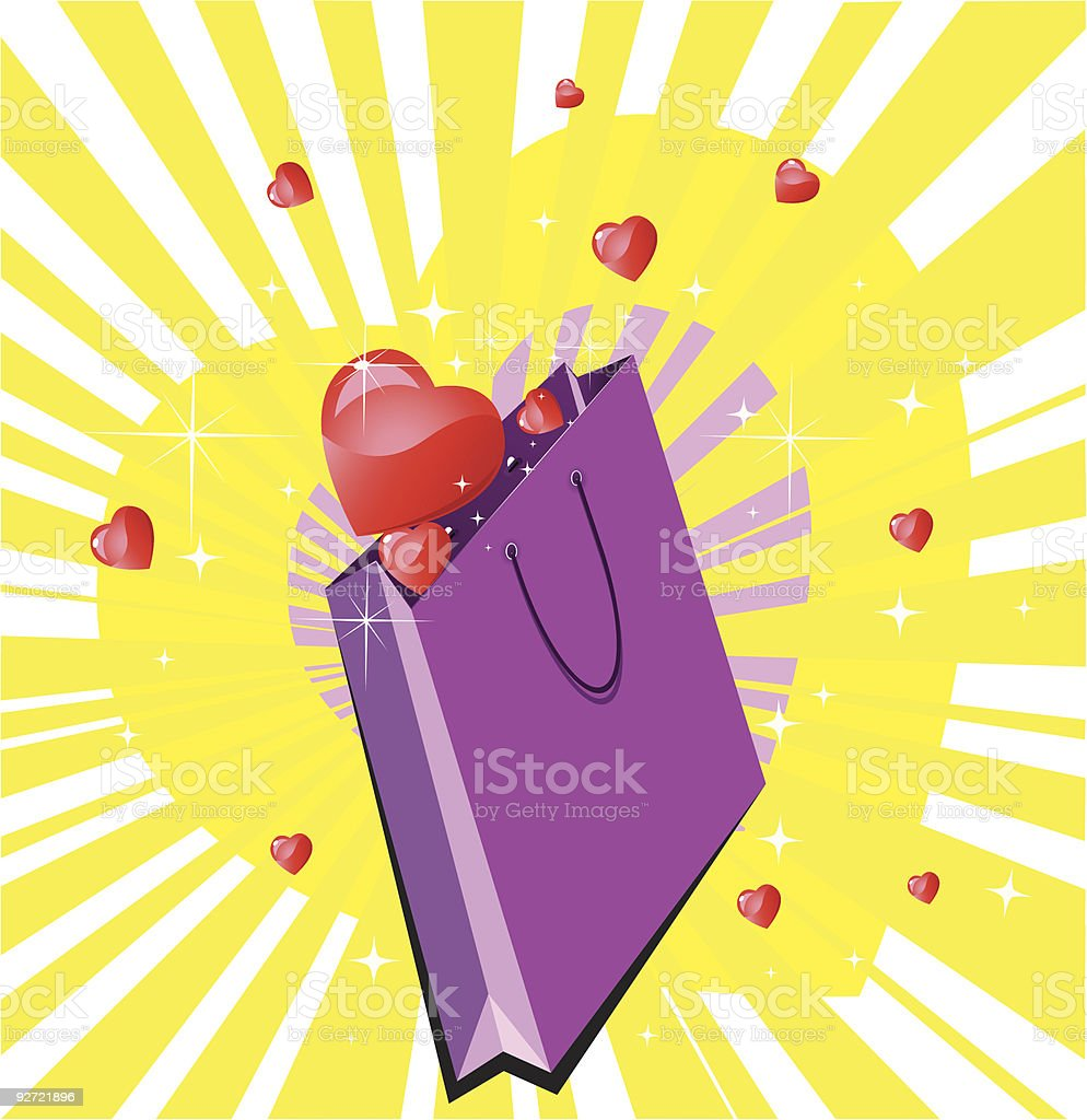 Romantic Valentines Gift royalty-free stock vector art