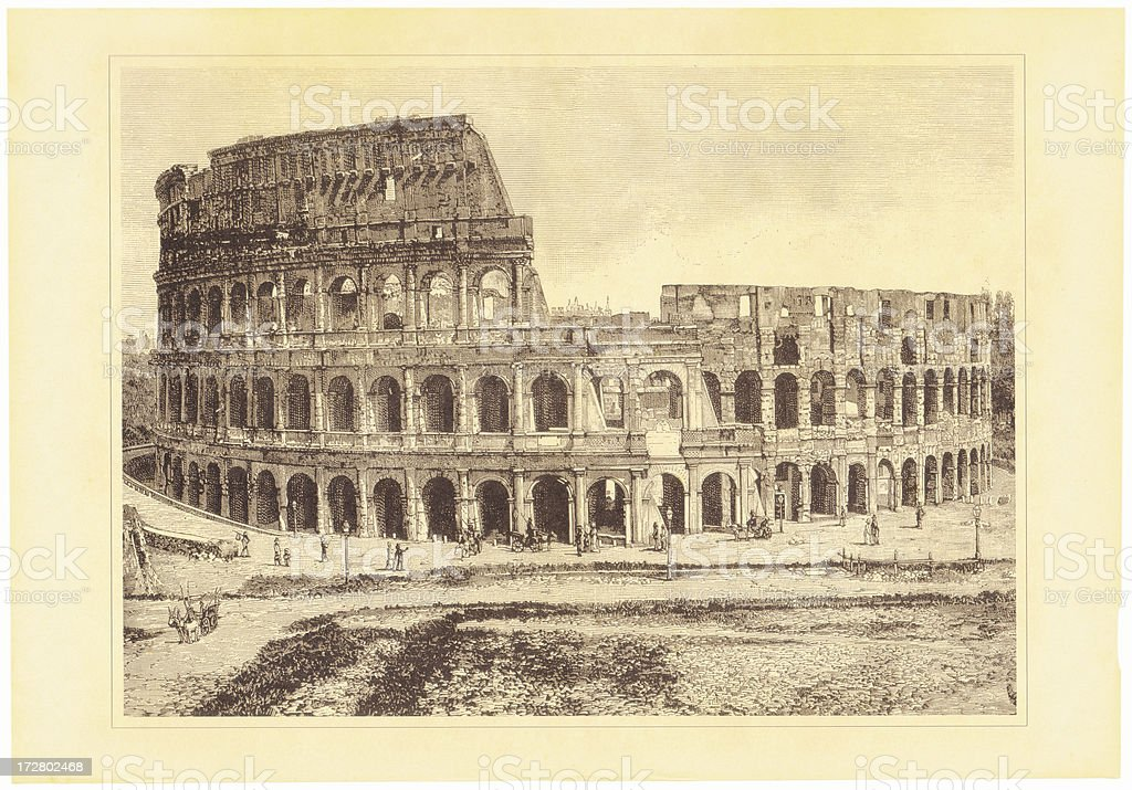 Rome Colosseum royalty-free stock vector art