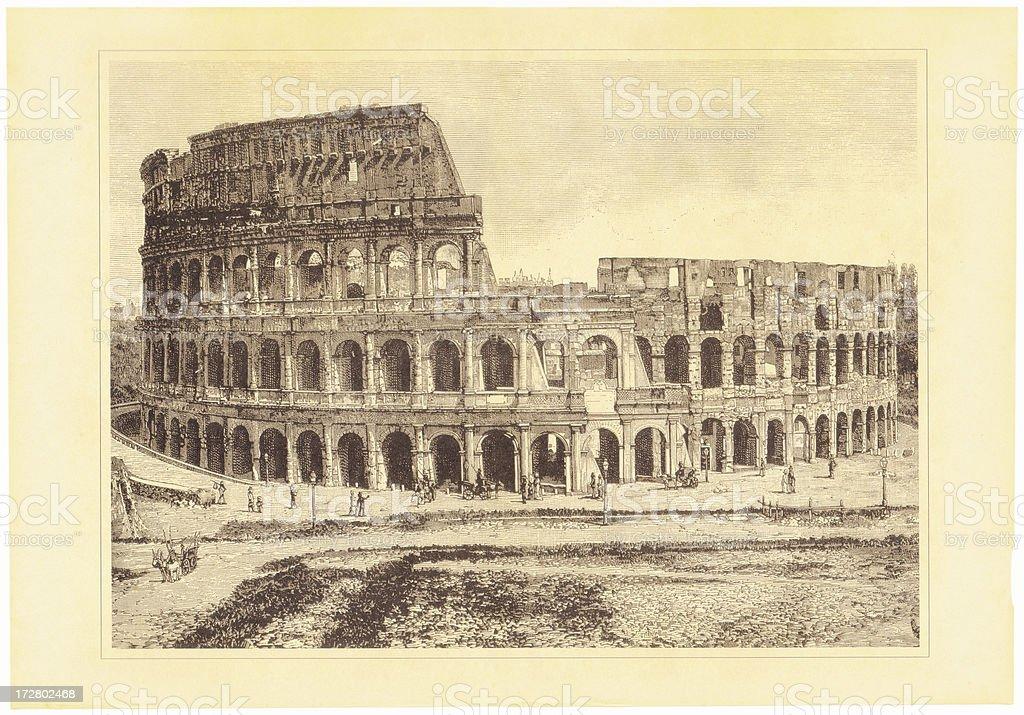 Rome Colosseum vector art illustration