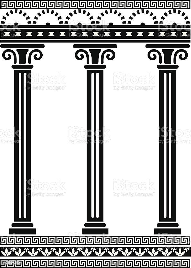 Rome Column - Slim vector art illustration