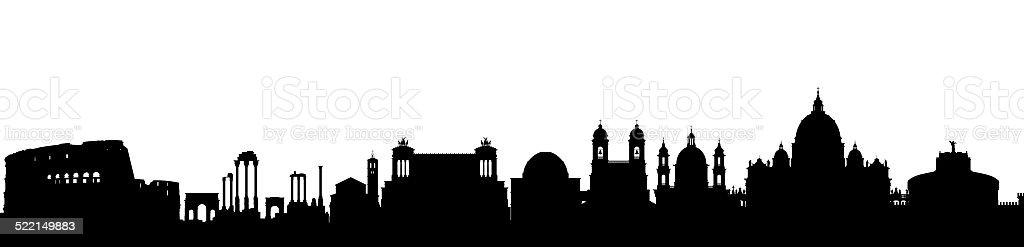 Rome vector art illustration