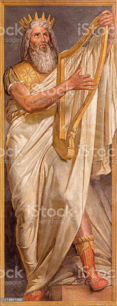 Rome - The fresco of king David vector art illustration