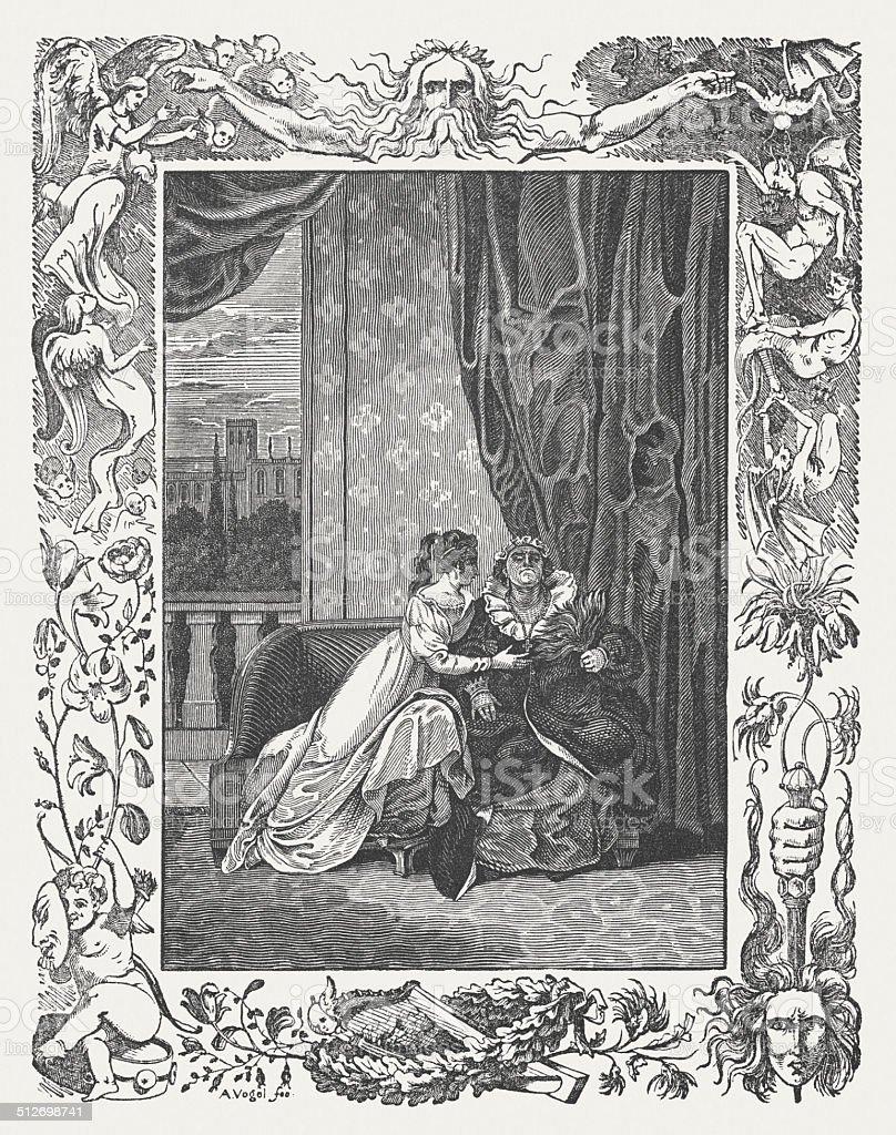 Romeo and Juliet vector art illustration
