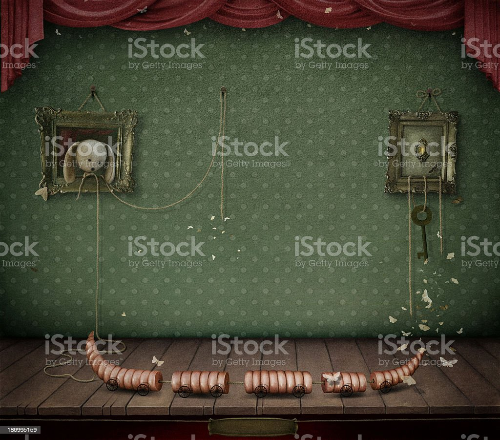 Room with toys. royalty-free stock vector art