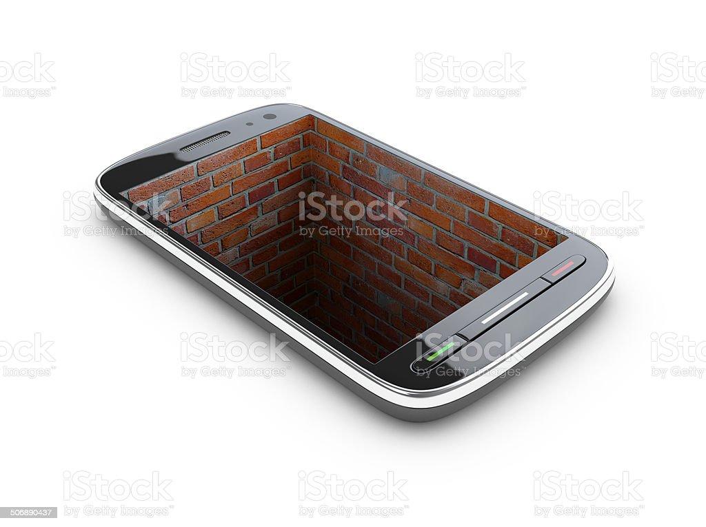 Roomy smartphone. royalty-free stock vector art