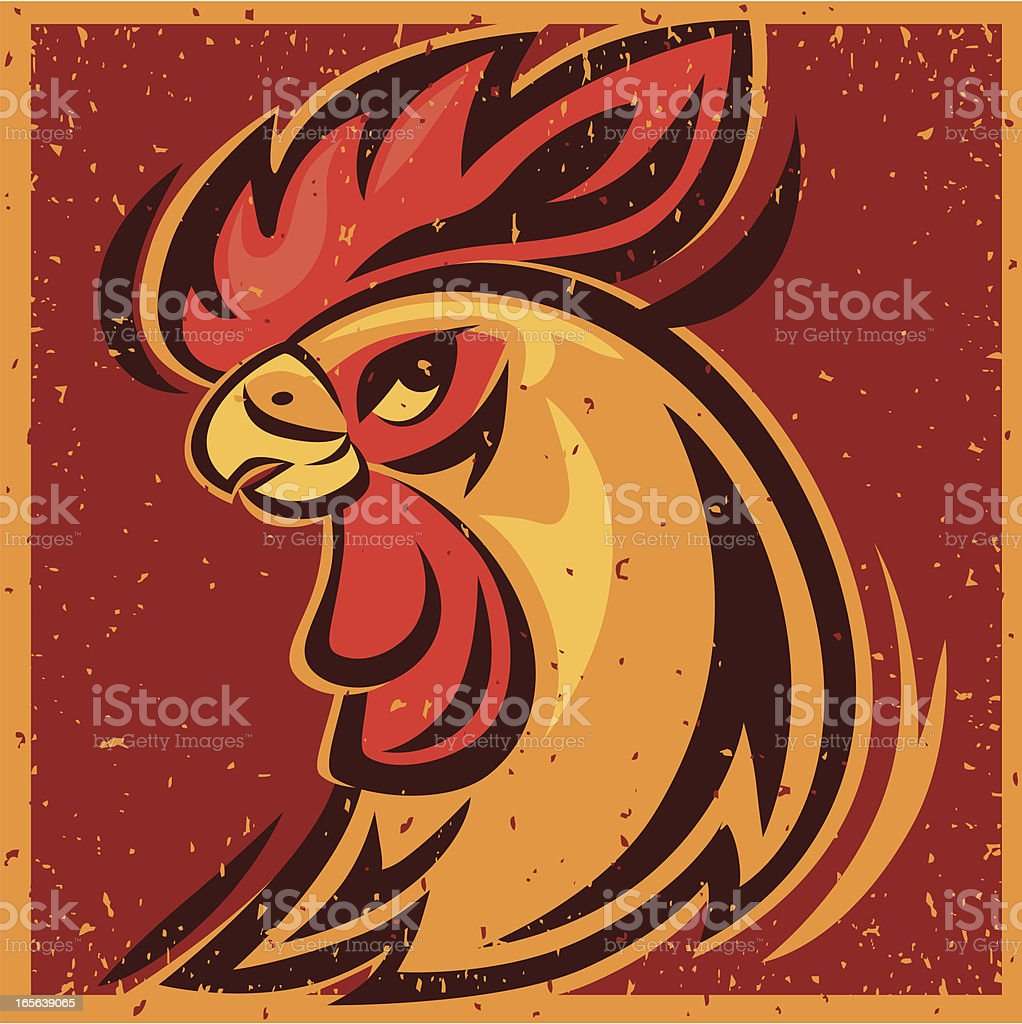 rooster head royalty-free stock vector art