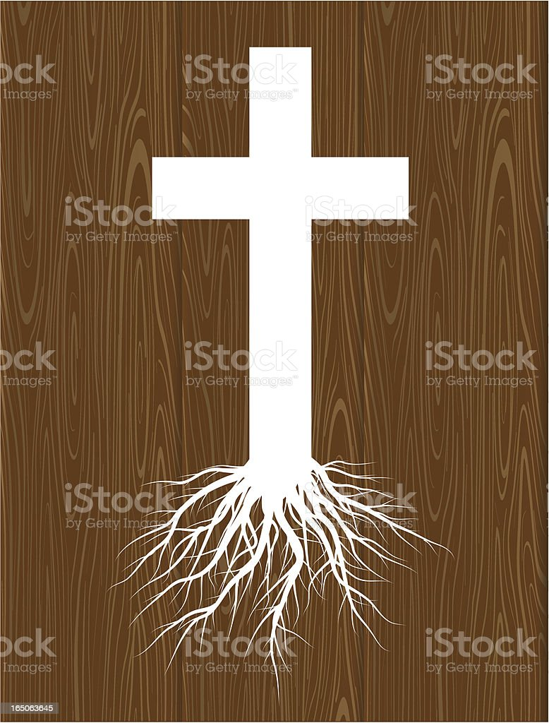 rooted church vector art illustration