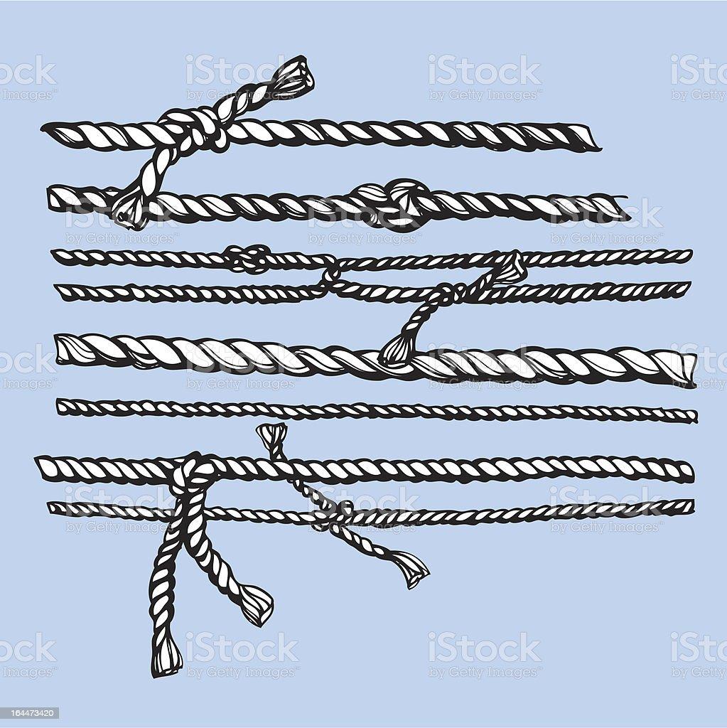 ropes vector art illustration