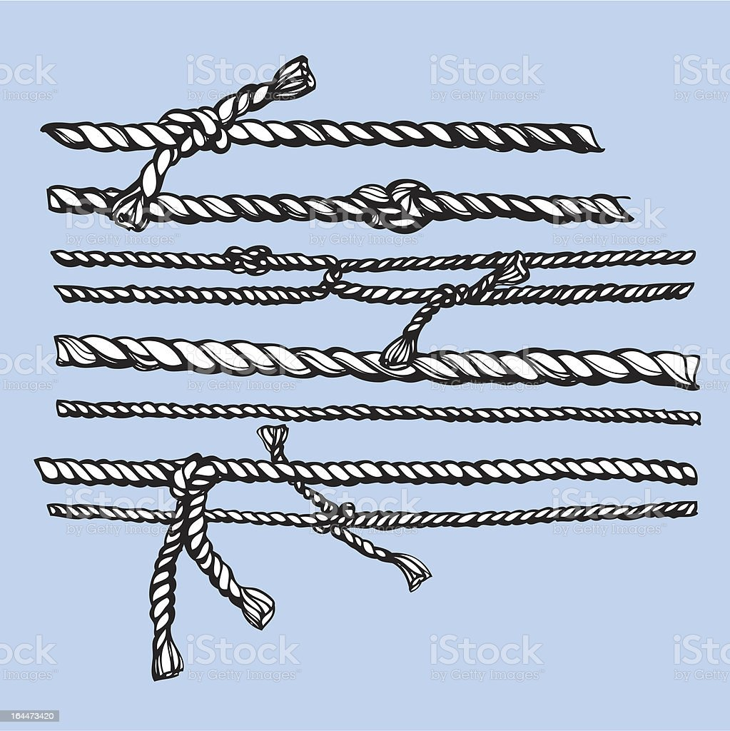 ropes vector art illustration