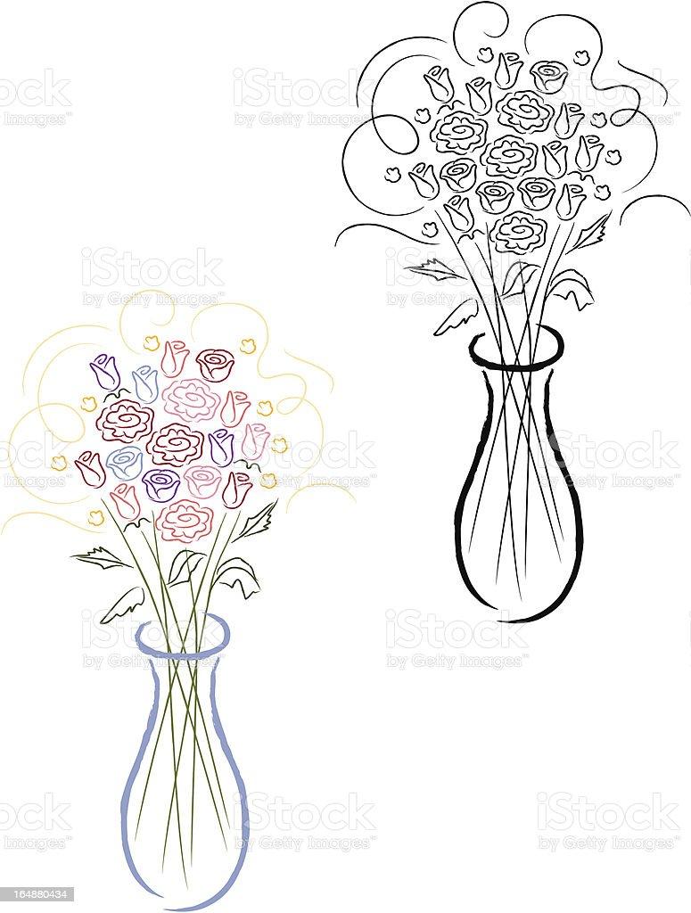 Rose bouquet illustration vector art illustration