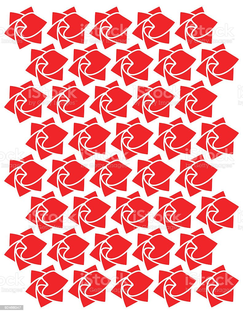 Rose of hearts royalty-free stock vector art