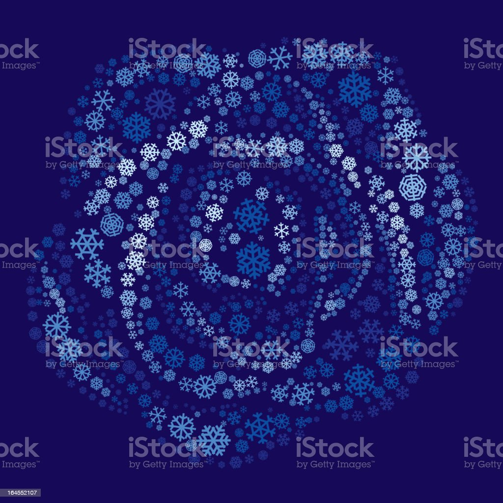 Rose of snowflakes vector art illustration