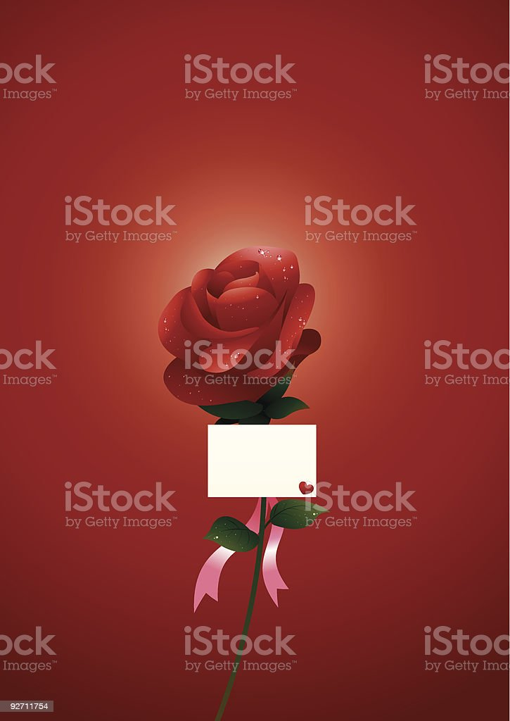 Rose of Valentine royalty-free stock vector art