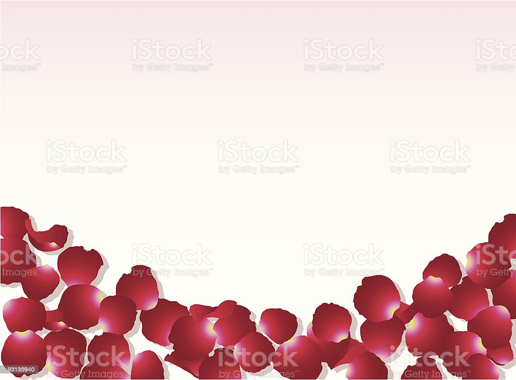 Rose Petal Background royalty-free stock vector art
