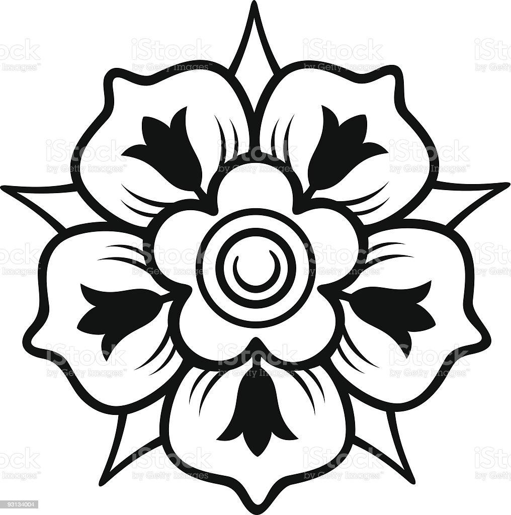 Rose&Crown2-71604 royalty-free stock vector art
